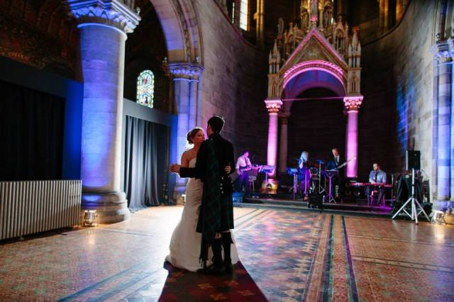 Destination wedding Edinburgh, Scotland - Duke Studios - First Dance at Mansfield Traquair