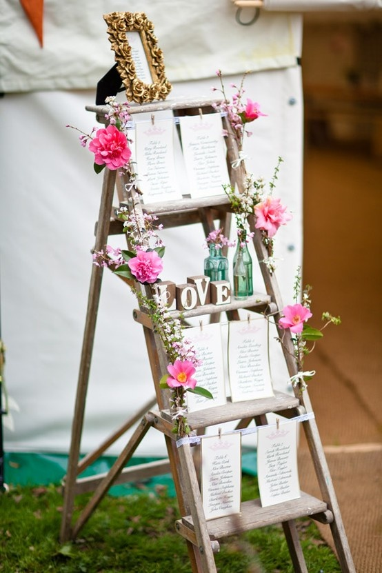Ladder_Shabby Chic_Vintage_Table Plan_by Sally Eaton