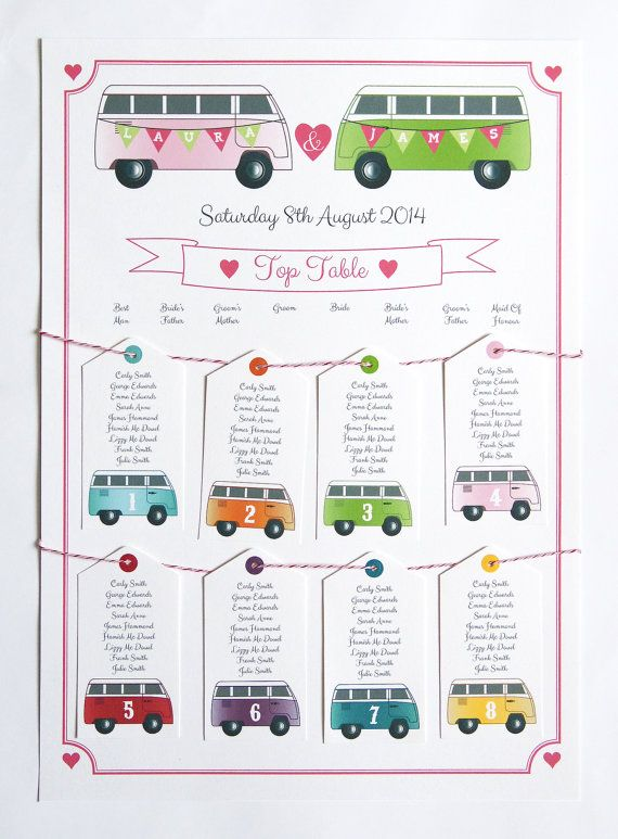 Camper Van Table Plan_by STNstationery on Etsy