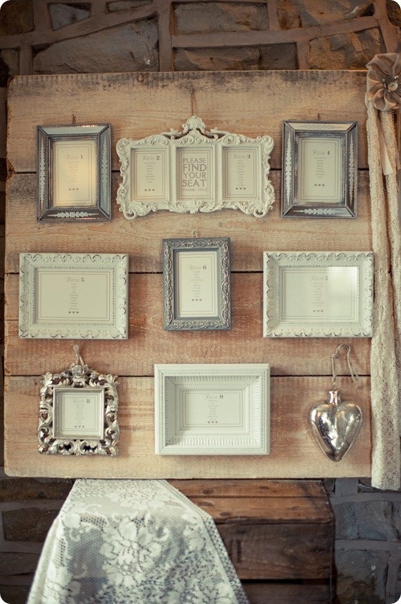 Rustic Shabby Chic Table Plan_Vintage Frames_From  bridesupnorth.com
