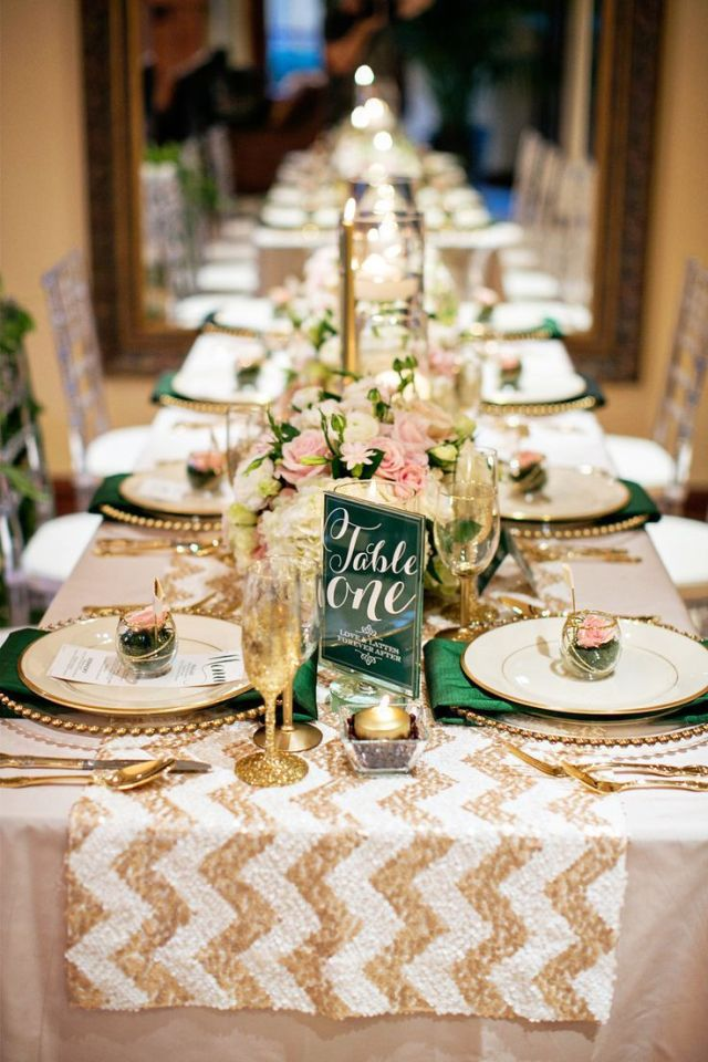 Beautiful gold table settings -  mycrazy-beautifulife.tumblr.com